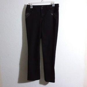 W30 x L28 black front fancy pocket jeans